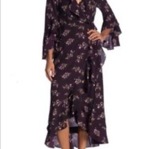 Max Studio High-Low Wrap Dress
